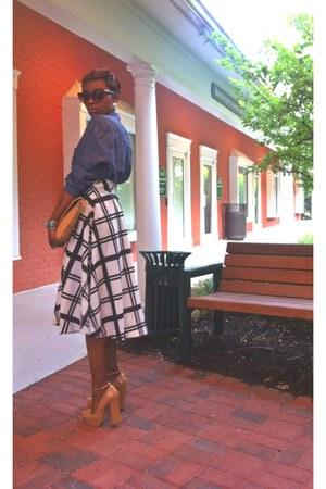 vintage skirt - H&M shirt - zeroUV sunglasses