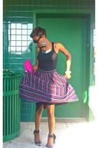 vintage skirt - Aldo bag - ribbed tank Forever 21 top - vintage accessories