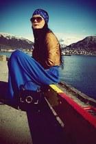 mustard Bershka jacket - blue H&M scarf - navy River Island bag - burnt orange H