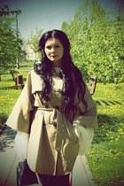 off white Sorbet dress - black Cubus leggings - navy River Island bag - beige H&
