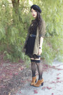 Lattice-timeless-dress-olive-runway-bandits-jacket