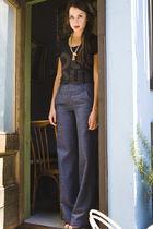 ADAM jeans - vintage necklace - Forever 21 top
