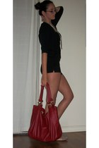 xappeal flats - sweater - bag - shorts - Charlotte Russe necklace - watch