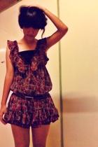 brown dress - brown versace not really sureused to be moms belt