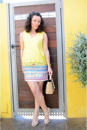 light yellow Primark skirt - yellow Kiabi shirt