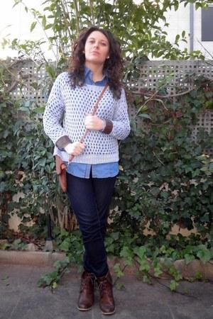 blue Primark jeans - navy Stradivarius shirt