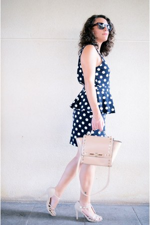 navy H&M dress - peach Zapatop heels