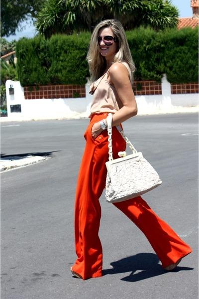 Louis Vuitton bag - Prada sunglasses - Zara pants - Zara blouse