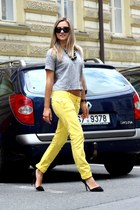 Dsquared2 pants - Ralph Lauren sunglasses - Zara heels - H&M t-shirt