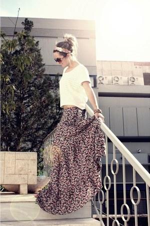 pull&bear dress - Zara sunglasses - H&M t-shirt