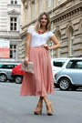 Peach-h-m-skirt-nude-h-m-bag-white-h-m-t-shirt