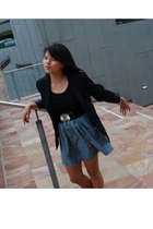 blazer - Esprit top - DIY by friend skirt - borrowed belt - Nina Ricci purse