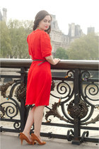 ruby red Dear Faithful dress