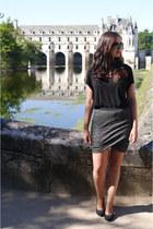 charcoal gray AMERICAN VINTAGE skirt