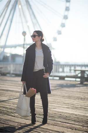 navy Zara coat
