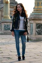 navy Sezane jacket