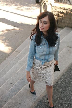 cream 424 Fifth skirt