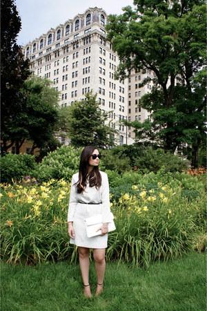 white SANDRO dress