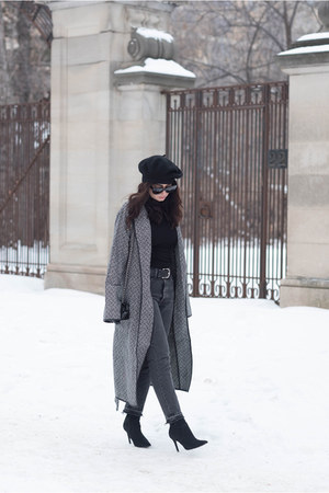 charcoal gray Lovers  Friends coat