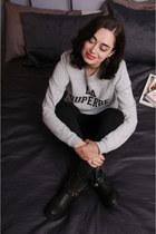 heather gray Sezane sweatshirt