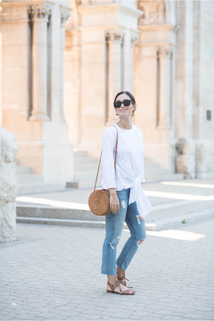 sky blue Grlfrnd jeans