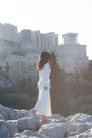 white LAcademie dress