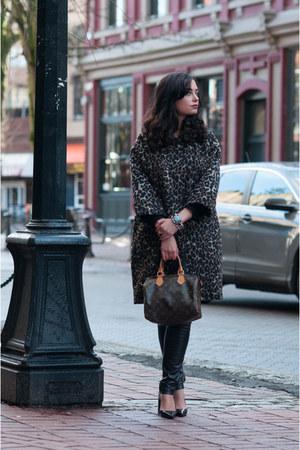 dark brown liu jo coat