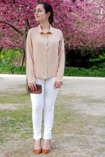 nude Sezane blouse