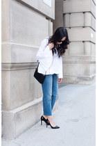 white LAcademie blouse