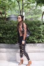 cocobonny jacket - cocobonny top - cocobonny leggings - cocobonny shoes - purse