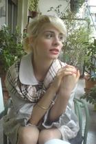 Burberry scarf - H&M skirt - vintage bracelet