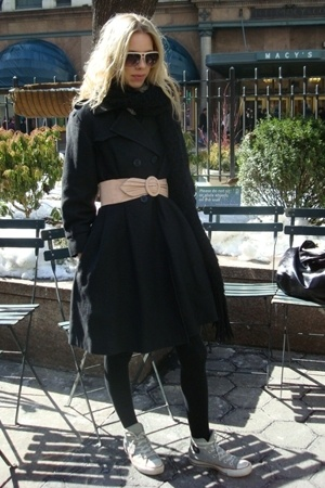 H&M glasses - H&M belt - H&M socks - United Bamboo sample coat