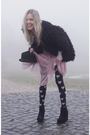 Black-queens-wardrobe-coat-pink-vintage-dress-black-topshop-stockings-blac