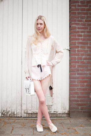 H&M shorts - H&M shoes - H&M bag - asos socks - H&M cardigan