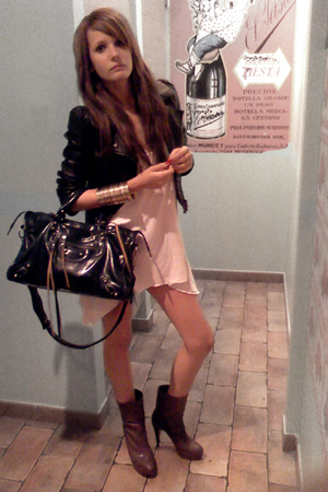 H&M jacket - balenciaga accessories - Stradivarius top - Zara boots - H&M access