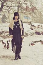 Sheinside sweater - Stradivarius boots - Stradivarius coat - Topshop leggings