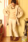 Zara-shoes-faux-fur-pull-and-bear-coat-vintage-sweater