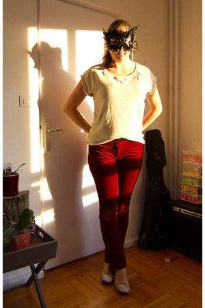Zara t-shirt - monoprix pants - Zara flats