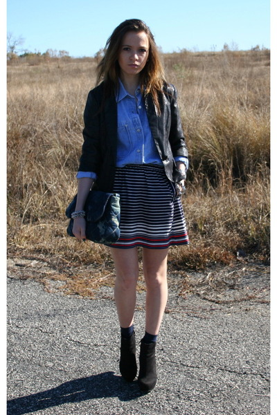 Urban Outfitters skirt - vintage shirt - f21 jacket