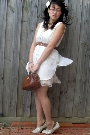 vest - Living Doll dress - Robin Mond shoes - belt