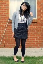 Esprit sweater - Living Doll top - cotton on skirt - diva necklace