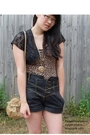 Brown-thrifted-top-black-thrifted-top-gray-silence-noise-shorts-brown-cot
