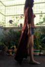 Brick-red-long-h-m-cardigan-nude-bershka-flats