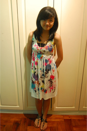 white Forever21 dress - brown Aldo shoes - from a bazaar necklace