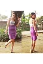 amethyst midi Forever21 skirt