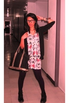 Bazaar - Topshop top - thrifted leggings - doc martens boots - Victorias Secret