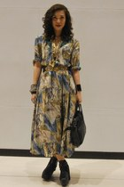 vintage dress - Cintura belt - Soule Phenomenon shoes - necklace - anagon bag -