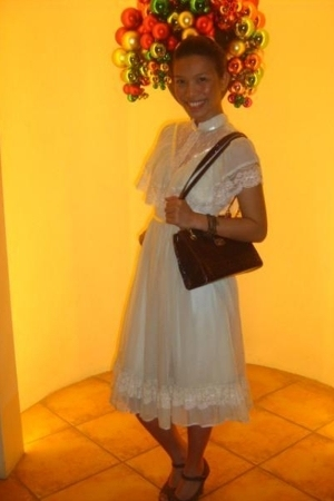 Gunne Sax dress - purse - Syrup shoes - bracelet