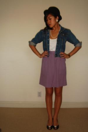 Levis jacket - vintage skirt