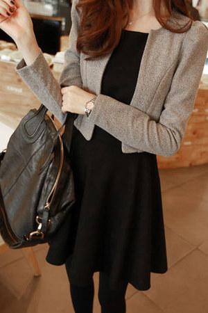 color block Fashionmia dress - blazer Fashionmia dress